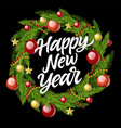 new year wreath - modern realistic vector image