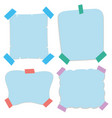 paper templates in blue color vector image