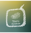 pine branch white icon Doodle Christmas vector image vector image