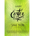 poster happy easter sales templates vector image