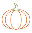 pumpkin vegetable fresh nutrition icon vector image