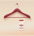 Red tag with special offer sign wooden hanger vector image vector image