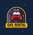 rental car service badge sticker banner vector image