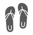 sandals glyph icon footwear and beach flip flops vector image vector image