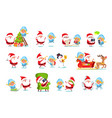 santa and snow maiden life vector image