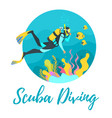 scuba diver diving vector image