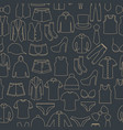 seamless pattern from a set of clothes icons vector image vector image