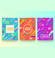 set abstract memphis style retro background vector image vector image
