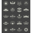 Set Mountains Logos Badges and Labels vector image vector image
