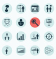 set of 16 administration icons includes report