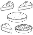 set of pie vector image vector image