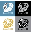 Set Swans Logo Design template vector image vector image