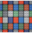 Shipping containers vector image
