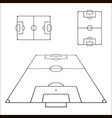 sketch of soccer fields set football field design vector image vector image