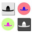 sombrero mexican hat flat icon vector image vector image