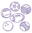 sports ball doodle vector image