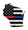 state wisconsin police and firefighter support vector image