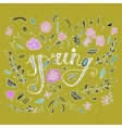 Stylish floral card in bright summer colors vector image