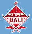 Surf tee vintage design vector image vector image