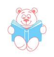 teddy bear with a book vector image