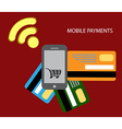 Transaction and paypass vector image vector image