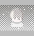 transparent snow globe isolated on a transparent vector image