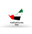 united arab emirates country flag inside map vector image