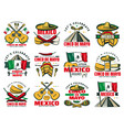 viva mexico icon for cinco de mayo mexican holiday vector image vector image