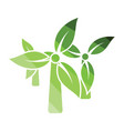 wind mill leaves in blades icon vector image