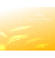 yellow abstract glowing golden background vector image vector image
