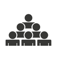 teamwork people silhouette icon vector image