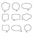 Blank empty white speech bubbles Stickers of speec vector image