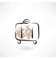suitcase grunge icon vector image