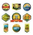 Camping emblems set vector image