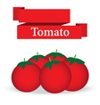 fresh tomato on white background vector image