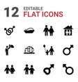 12 boy icons vector image vector image