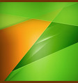 abstract background green and orange background vector image vector image