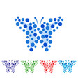 abstract butterfly art vector image vector image