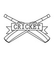 abstract cricket label vector image