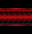abstract red metallic arrow pattern on black vector image