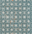 Aged textured geometric seamless pattern vintage vector image vector image