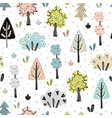 amazing forest seamless pattern vector image vector image