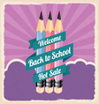 Back to school retro vintage poster vector image