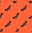 bat halloween seamless pattern flat design vector image