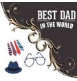 best dad in world - stock social media vector image vector image