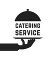 black catering service emblem vector image vector image