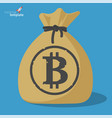 blockchain bitcoin savings vector image vector image