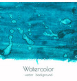 blue green watercolor texture background vector image vector image