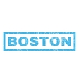Boston Rubber Stamp vector image vector image