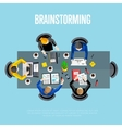 Brainstorming concept Top view workspace vector image